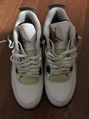 Nike Air Jordan 4 White Cement 2012 Retro Slightly Used Men's 11