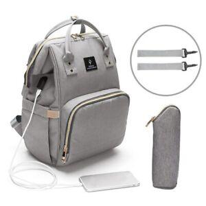 USB-Interface-Maternity-Diaper-Bag-Mom-Backpack-Large-Capacity-Baby-Nursing-Bag