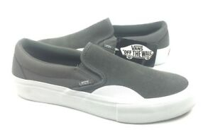 fe595d091cc3 NEW Vans Slip On Pro Suede Rubber Pewter Gray White Mens Size 7 ...
