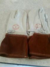 Electrical Linemans Gloves 10white Rubber Co Quillon Treated Curved Hand