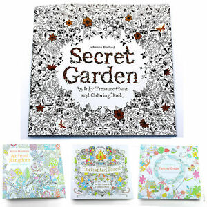 Details about Adult Children Secret Garden An Inky Treasure Hunt Colouring  Book New Practical