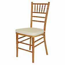 Pre Chiavari Set Of 4 Wood Chair With Natural And Ivory Cushion 1876