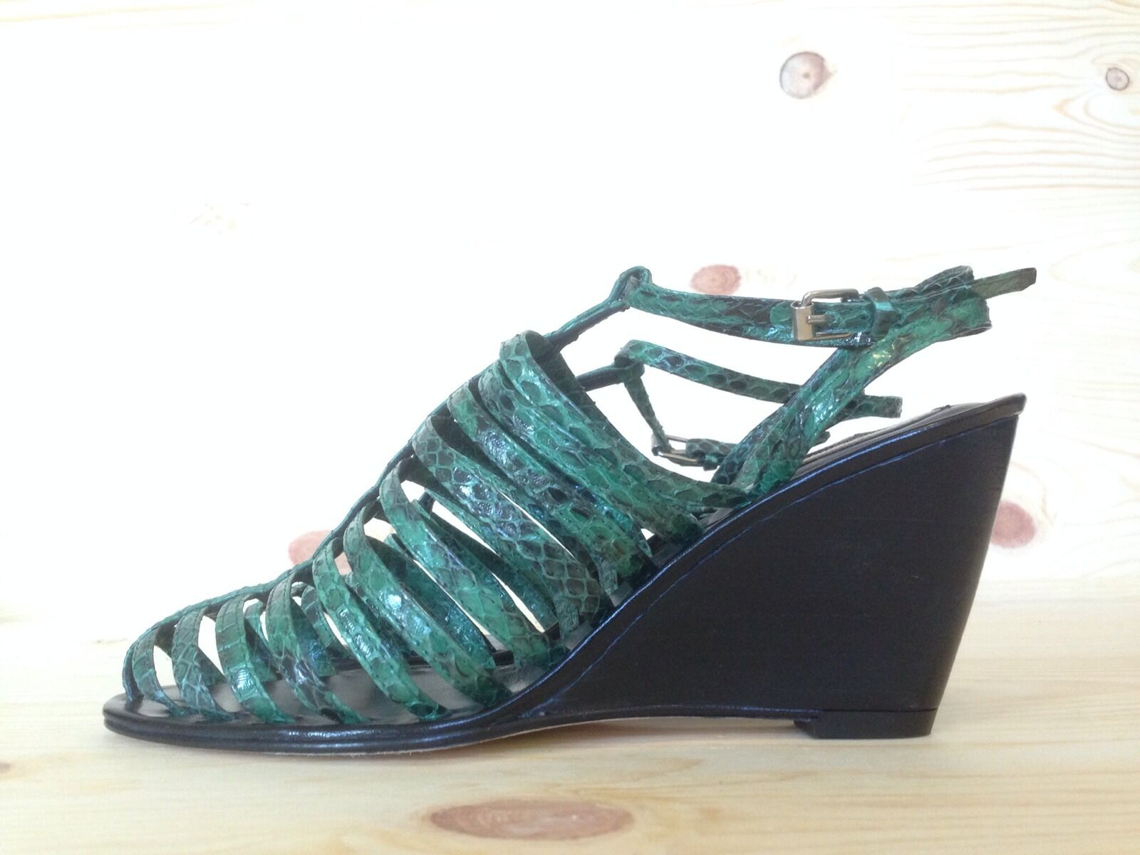 OPENING CEREMONY BURNING MAN AYERS MSRP GREEN PLATFORM WEDGE SANDALS MSRP AYERS 540 SIZE 36 1fa239