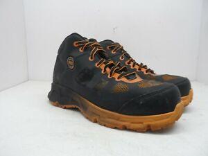 Timberland-PRO-Men-039-s-Velocity-Alloy-Safety-Toe-Mid-Work-Boot-Black-Orange-8W