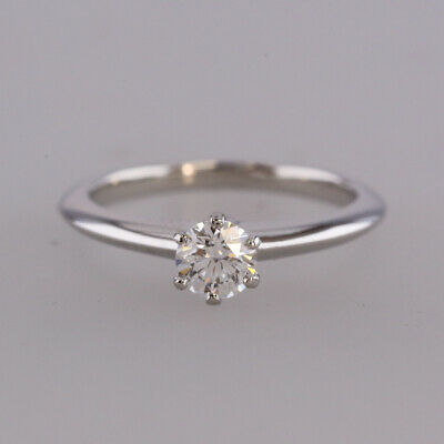 Tiffany Co 0 40 Carat Diamond Engagement Ring Platinum Ebay