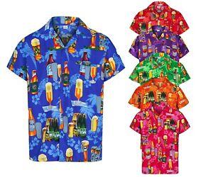 c30a51d2ac23 MENS HAWAIIAN SHIRT BEER BOTTLE STAG FANCY DRESS PALM BEACH HOLIDAY ...