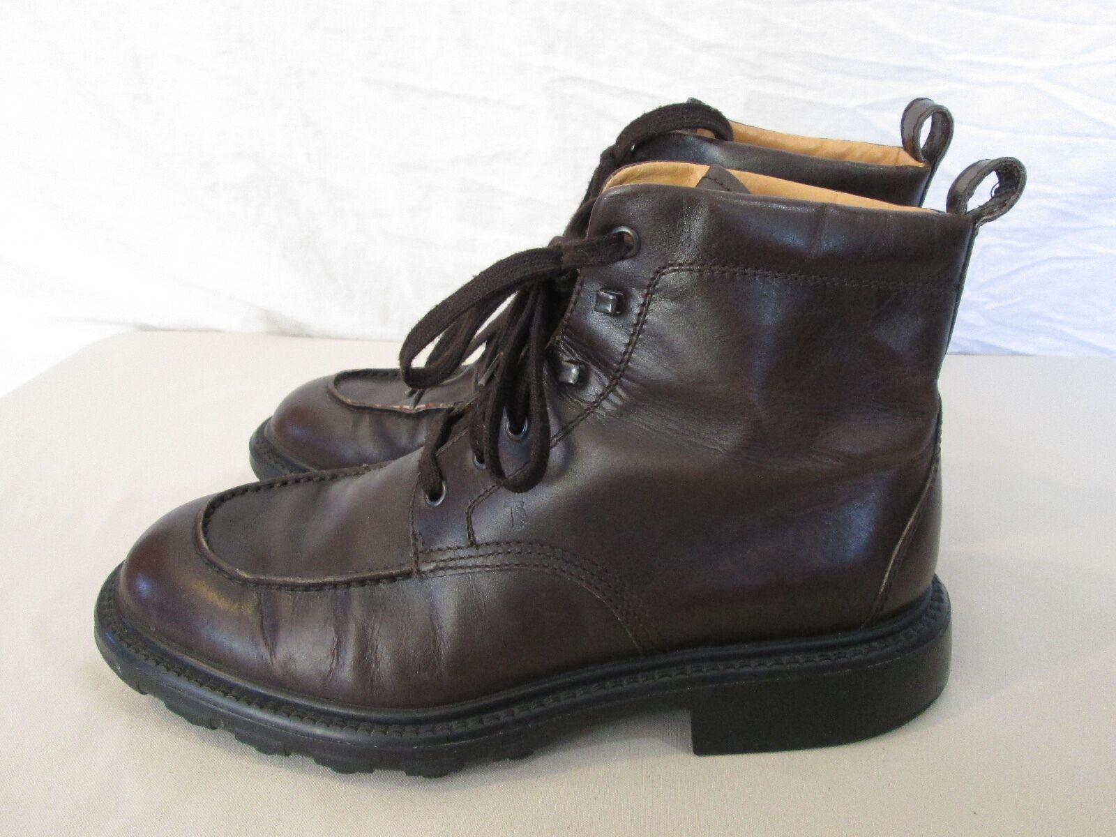 Cuero Genuino Hombres Tods Tobillo botas Con Cordones 9 10 nos en marrón