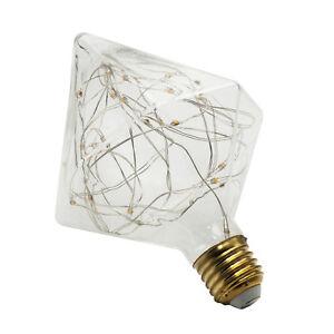 LED-Leuchtmittel-Dekorativ-Diamant-2w-E27-2200K-Warmes-Licht-Moeglich-Vintage