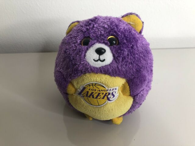 """Ty Beanie Ballz 5"""" Los  Angeles Lakers Brand New With Mint Tag.* Smoke Free Home"""