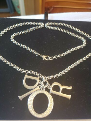 Christian Dior Necklace CD Chain DIOR Logo Top Rhi