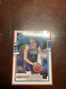 LaMelo Ball #202 Donruss Basketball 2020-21 Rated Rookie Card RC Hornets Mint