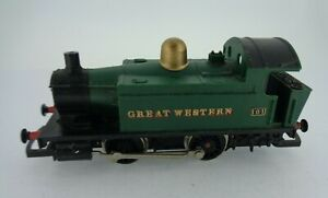 Hornby-OO-Gauge-0-4-0-GWR-Tank-Loco-101-Class-101-Green