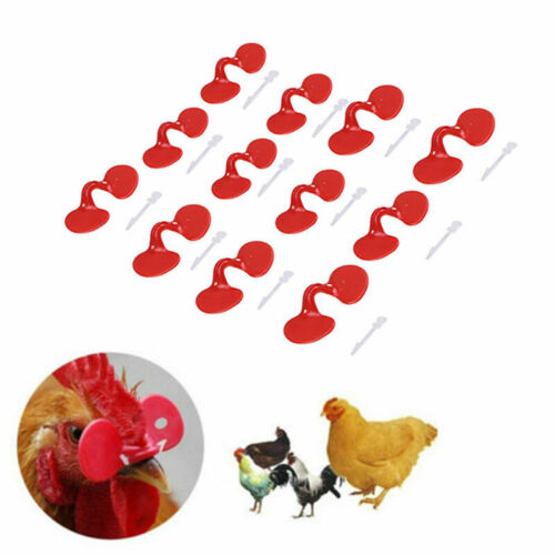 Pack of 20 Chicken Eyes Peeper Glasses Spectacles Anti-pecking Hen Blinder