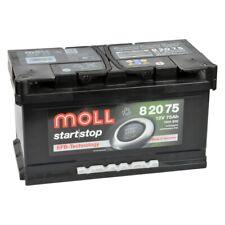 Moll EFB 82075 75Ah 12V Autobatterie einbaufertig