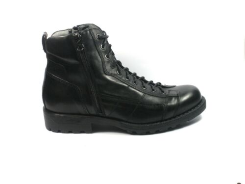 Nero Giadini uomo polacchini A800640U anfibi pelle nero scarpe fatte in Italia