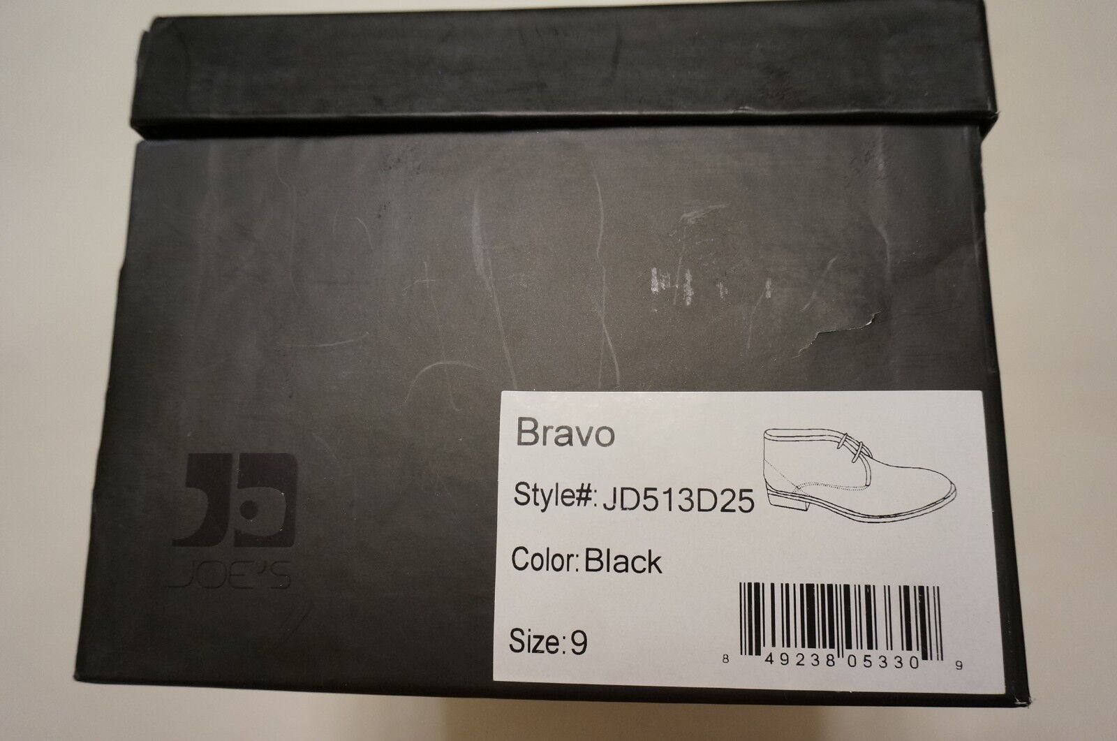 Joe's Mens Bravo Black Leather Ankle Chukka Boots shoes Size 9 US