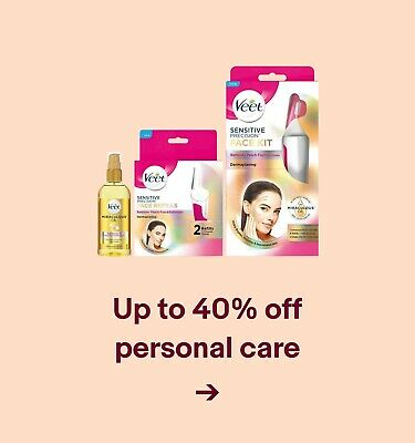 Up to 40% off personal care