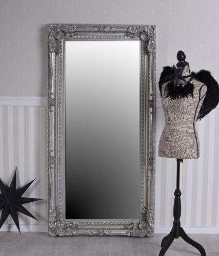 Halles Miroir vestiaires Miroir Baroque Miroir Argent 147 Cm Miroir Mural Antique
