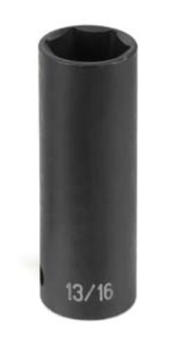 Grey Pneumatic 1//2 Drive x 13//16 Deep Socket 2026D