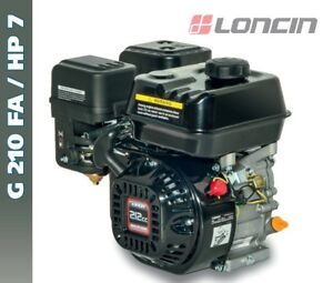 Details about ENGINE LONCIN G 210 FA PETROL 7HP SHAFT CYLINDRICAL D 19 05  ALESAGGIO 70 x 55