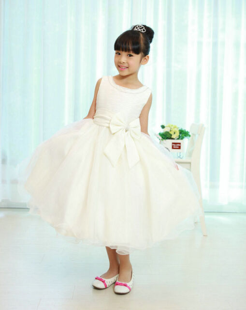 Free Post Wedding Christening Flower Girl Bridesmaid Communion Party Dress 6M-9Y