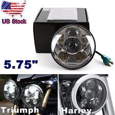 5-3/4 5.75 Inch Projector LED Headlight for Harley Davidson&Triumph Rocket 3