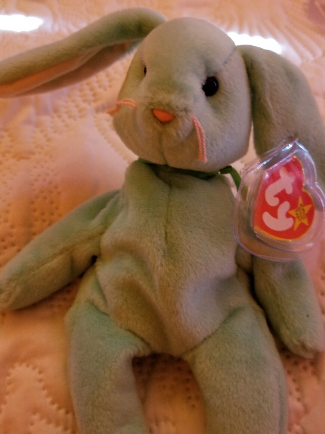 TY Beanie babies Sought after collectible PVC Hoppity mint Best 2 Errors