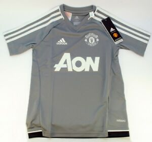 newest b7dcb f3f4b Details about adidas Manchester United FC adizero Training Shirt Juniors  Short Sleeve -XS,7-8Y