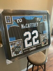Christian-Mccaffrey-Authentic-Autograph-Framed-Jersey-COA-Panthers