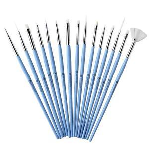 Winstonia-15pc-Pro-Nail-Art-Brushes-Set-SOMETHING-BLUE-Detailer-Gel-Acrylic-USA