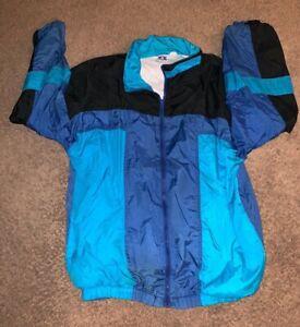 Vintage-90s-Pro-Spirit-PS-Full-Zip-Windbreaker-Jacket-Colorblock-Size-Large-TALL