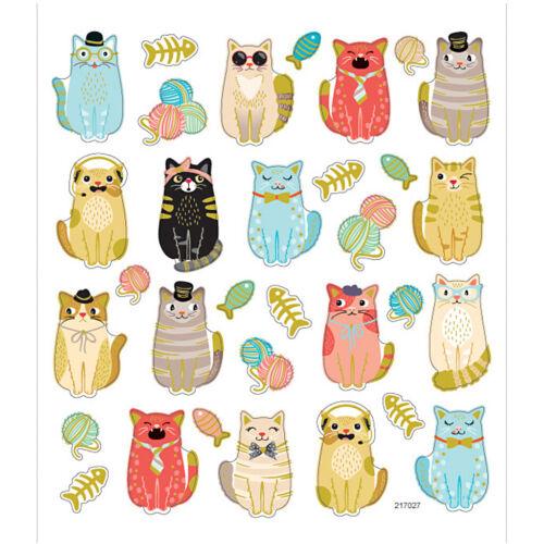 1 Sheet Creativ Sticker Sheet Funny Cats 16,5 x 15 cm 32 Stickers