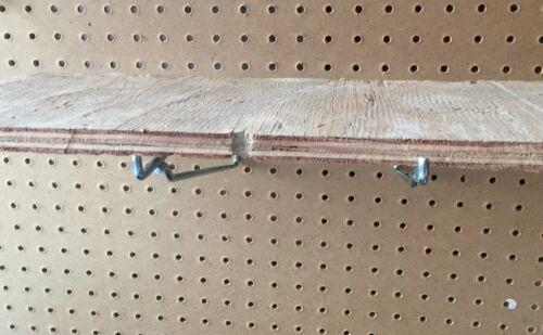 """2 Pack Metal 8 Inch Shelf Bracket Garage Peg Hanger for 1//8/"""" /& 1//4/"""" Pegboard"""