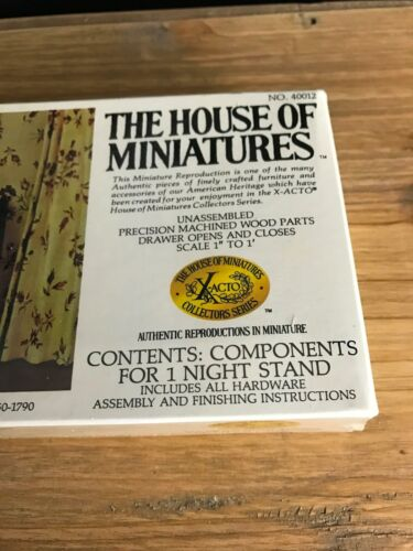 X-Acto House Of Miniatures #40012 Chippendale NIGHT STAND CIRCA 1750 Sealed NEW