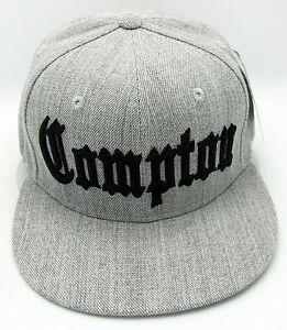 NEW VINTAGE COMPTON FLAT BILL SNAPBACK BASEBALL CAP HAT BLACK//AQUA