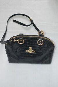 bdd6a7c20e Image is loading Vivienne-Westwood-Anglomania-Black-Leather -Gold-Orb-Shoulder-