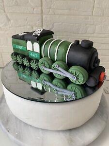 Stupendous Edible Large Flying Scotsman Train Birthday Cake Decoration Cake Birthday Cards Printable Benkemecafe Filternl