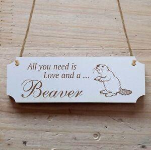 Türschilder Verantwortlich Türschild Dekoschild « Beaver 02 » Biber