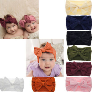 Newborn-Toddler-Kid-Baby-Girls-Cute-Bow-Turban-Headband-Headwear-Accessories