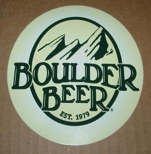 Verzamelingen Papieren reclame BOULDER BEER COMPANY Die Cut LOGO STICKER craft beer brewery