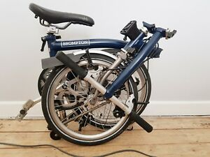 "Brompton S2L-X Superlight Titanium folding bike ""Tempest Blue"""