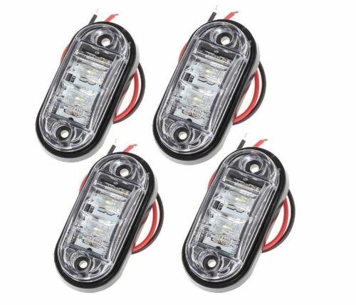 4x LED Side Marker Indicator Light 12V 24V Car Truck Van Trailers Waterproof UK