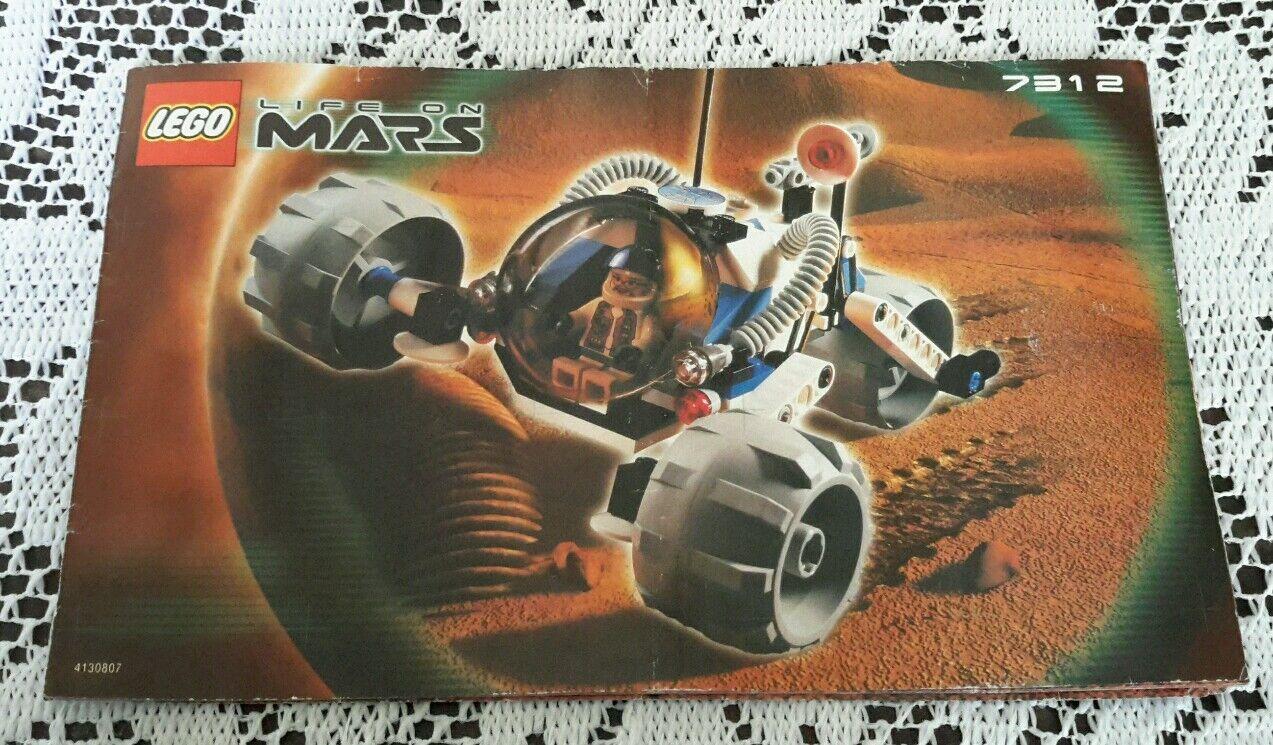 Legos Legoland Set  7312 T-3 Trike Leben auf Mars Anleitung Handbuch Nur