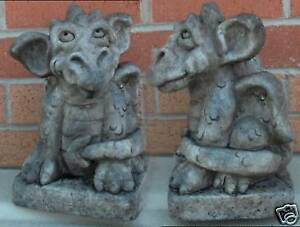 Concrete-latex-fiberglass-mold-Baby-Dragon-Gargoyles