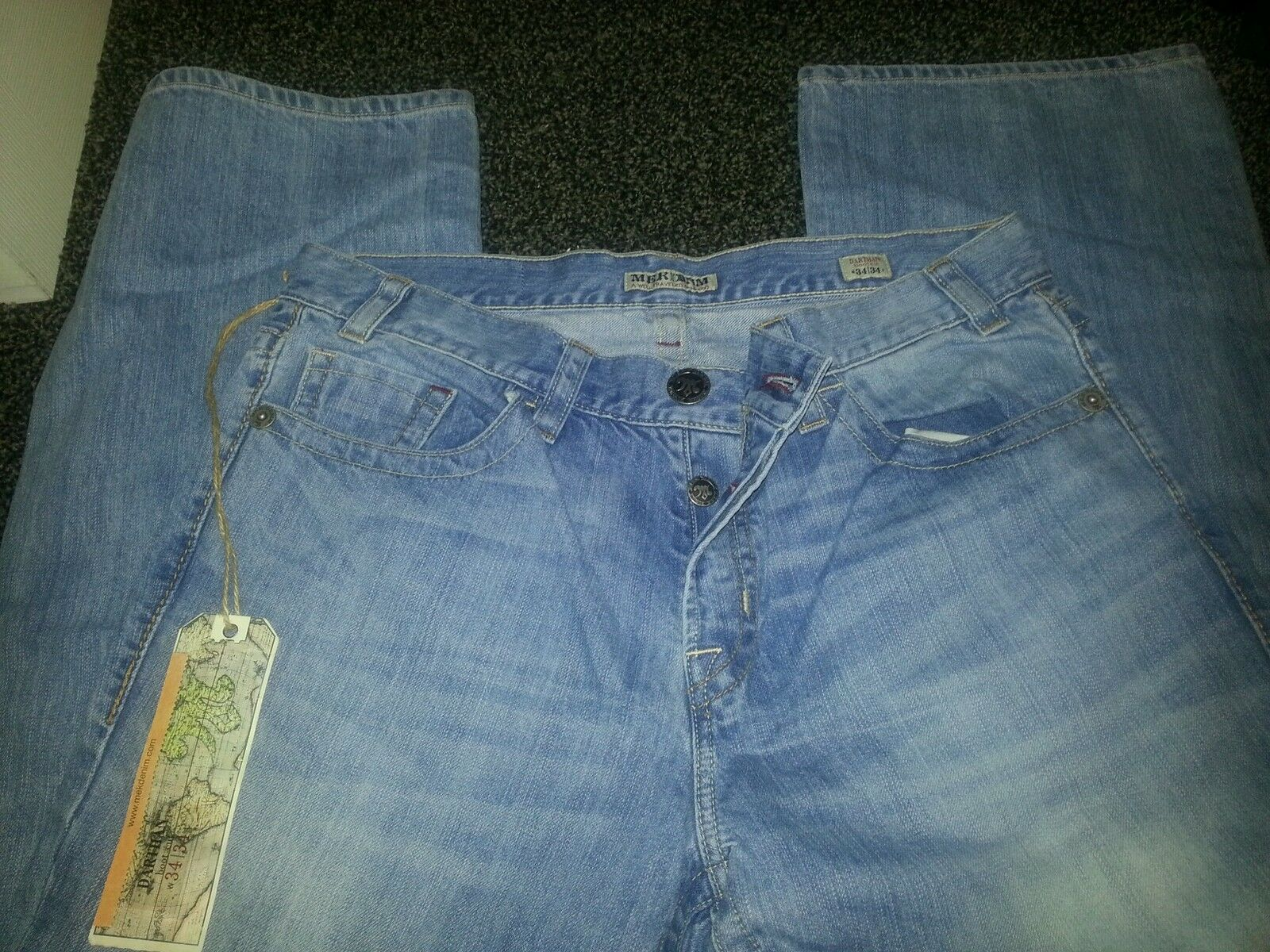 MENS MEK JEANS SIZE 32 DARTHAN BOOT CUT