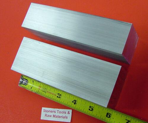 2 pieces 1-1/2 X 2-1/2 ALUMINUM 6061 FLAT BAR 6 long 1.50 Solid Mill Stock