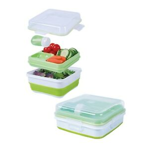 cool gear ez freeze collapsible bento set lunch box. Black Bedroom Furniture Sets. Home Design Ideas
