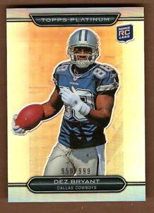 online store 7ba75 137e1 Details about Dez Bryant 2010 Platinum Refractor RC #152 Cowboys /999