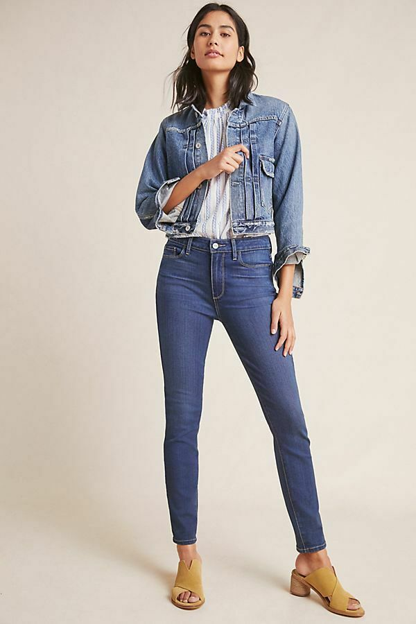 Anthropologie Paige Hoxton Ankle High-Rise Skinny Jeans