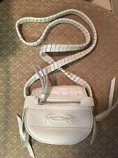 Lacoste White Leather Crossbody Strap Bag Purse